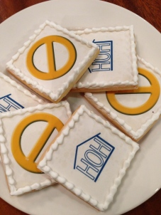 'House Guests' snacked on 'Big Brother' themed snacks, including POV and HOH cookies.