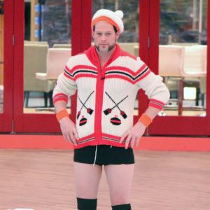 Andrew dons Big Brother Canada's curling attire. There's no outfit too ridiculous in the 'Big Brother Canada' house.