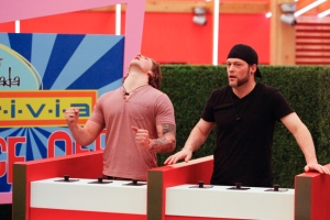 Andrew competes alongside Emmet in a very important HOH competition.