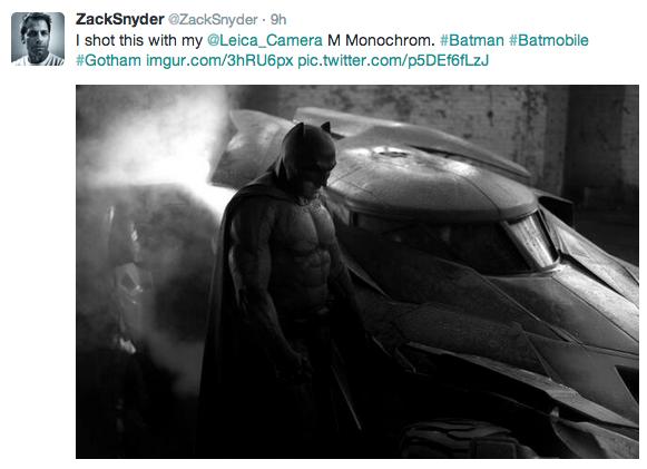Zack Snyder Tweet