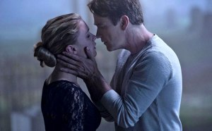 Bill gives Sookie one final kiss before he meets his true death.